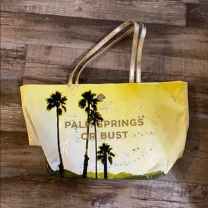 Kate Spade Palm Springs or Bust tote flaws